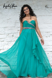 Wholesale Sweetheart Crystals Beading Chiffon Plus Size Prom Dress Evening Dresses