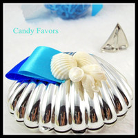 Favor Boxes beach favors - Sea Shell Candy Boxes Beach Theme Candy Favors Wedding Party shower Favors gifts Candy Package New Wedding Favors holders Chinese