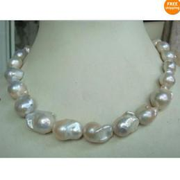 Wholesale Fine Pearl Jewelry hgue natural mm Australian south sea white pearl necklace inch KG