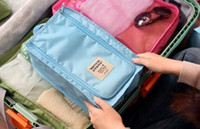 Wholesale Shoe Bags For Shipping - Wholesale 2016 hot Waterproof Travel Composition Shoes Storage Tote Bag package shoes bag for travel pouch 50pcs Free shipping