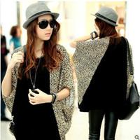 Wholesale 2013 New Hot Womens Cotton Span Loose Split Joint Bat T Shirt Tops Plus Size