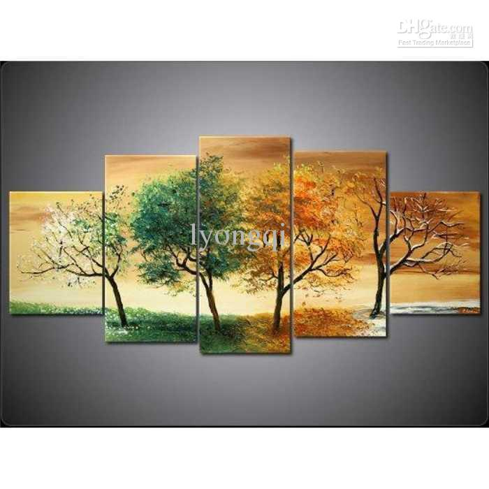 Hand painted hi q modern wall art home decorative abstract for Modern paintings for home