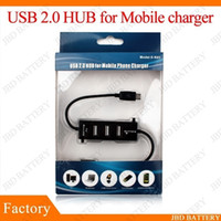 Wholesale Micro Ports USB HUB phone mobile Splitter charger Cable For samsung i9300 i9100 S2 with retailing packing