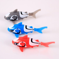PVC battery operated animal toys - Robo Shark Aquatic Toy Pet Fish Robot Battery Operated Robotic Toy Kids Gift