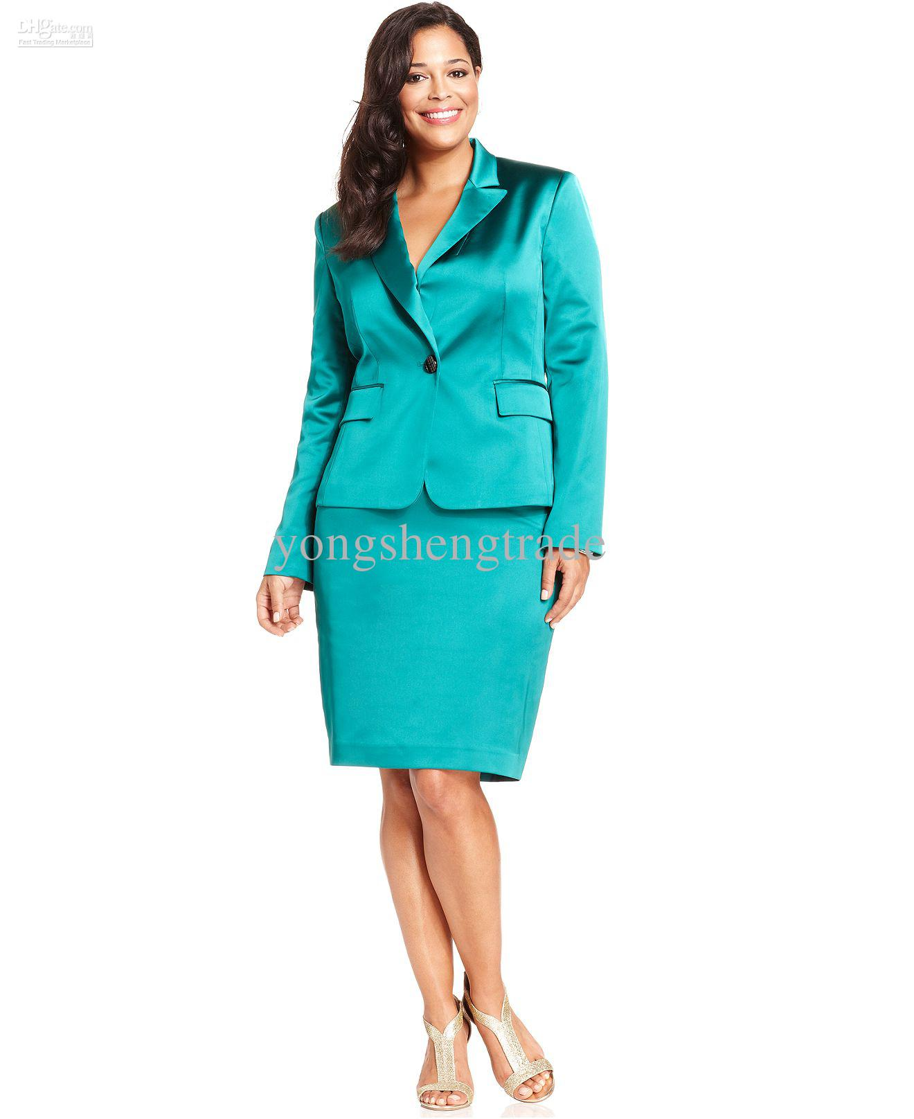 Plus size dress suits women