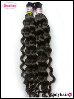 Wholesale DHL Hair Bulk gram Nature Color Can Be Dyed Brazilian Wavy Hair Bulk