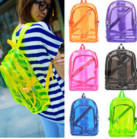 Wholesale New Fashion Transparent Clear Backpack Plastic Student Bag School Bag Backbags
