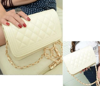 Wholesale Small Chain Quilted Shoulder Cross Body Bag Pure Beige Black White Color