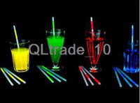 Wholesale NEON GLOW DRINKING STRAWS GLO COCKTAIL BAR HEN NIGHT PARTY STRAW PACK OF TV196 DHL free
