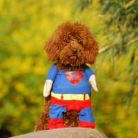 apparel and clothing - Fashion supper man s clothes for dogs and cats pet clothes Superman pet dog clothes clothing apparel garment