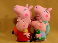 Unisex 3-4 Years Anime & Comics New Arrival Hard wash peppa pig & george pig 19cm plush Mom & Daddy 30cm cute kids toddler toys
