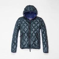 atrovirens color - 2015 winter Parkas Men Down Jakcets rhombus design atrovirens size Italy Sweden