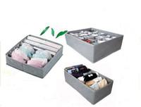 El envío libre 3 pedazos un sistema, caja plegable / Bamboo de la caja para el sujetador, ropa interior, corbata, calcetines 40set / lot