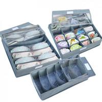 100 set / porción envío 3 pedazos un sistema gratuito, caja plegable / Bamboo de la caja de almacenaje para el sujetador, ropa interior, corbata, calcetines