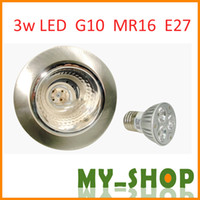 Wholesale 3W GU10 E27 MR16 LED Bulbs High power Bulbs LED Bulbs Long life Bulbs