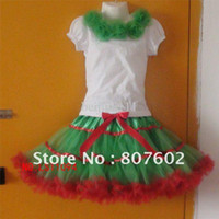 Spring / Autumn pettiskirt set - dancing T shirt amp pettiskirt set Christmas T shirt and pettiskirt set