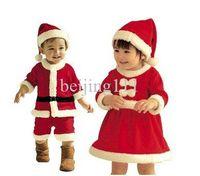 Unisex Spring / Autumn Three Quarter Free shipping Baby romper + hat Kids Christmas clothing cotton Baby boys & Girls Sanda clothes Masquerade Wholesale & Retial