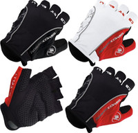 Wholesale 50pairs NEW Castelli bicycle Gloves gel on palm finger Castelli Rosso Corsa Bike Cycling Fingerless half finger moutain Gloves XL L M