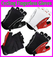 Wholesale 1 pair Promotion motorcycle bicycle Gloves Castelli Rosso Corsa Bike Men s Cycling Short Glove Mitts Silicone gel on palm M L XL