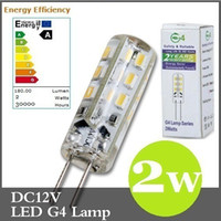 Wholesale 100pcs CE ROHS High Power G4 W Led Bulb Car Boat Light Lamp Warm Cool White SMD Leds Lumens DC V