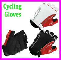 Wholesale Fashion motorcycle Cycling Fingerleness Gloves Castelli Rosso Corsa Bike Cycling Short Glove Mitts Silicone gel on palm M L XL