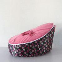Wholesale Hot Promotion Baby seat baby bean bag flower pink beanbag chair without filling