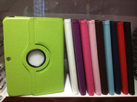 Smart Cover/Screen Cover auto tabs - 360 degree Rotating Magnetic PU Leather Smart Cover Case For Samsung Galaxy Tab3 Tab inch P5200 P5220 Tab P5100 Auto Sleep Wake UP
