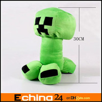 Wholesale 30cm Minecraft Creeper Character Plush Soft Toy Stuffed Animal Doll Green JJ Monster