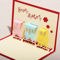 Birthday pop up greeting card - The Happiness Train Handmade Creative D Pop UP Gift Greeting Friendship Cards