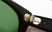 Beach hinges - High Quality Metal hinge Plank black Sunglasses glass Sunglasses beach sunglasses Green Lens