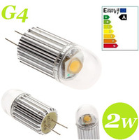 Wholesale 2014 New Arrival COB G4 Led Spot Bulb Light W Lumens Warm Cool White Led Corn Lamp V Best For Car Boat Light CE ROHS