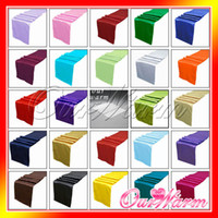 Wholesale Satin Table Runner Many Colors You Pick For Christmas Wedding Holiday Decor Favor New Elegant Edyge Hot Sale
