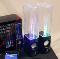 Wholesale Dancing Water Speaker Music Audio MM Player for Iphone s USB LED Light in USB mini Colorful Water drop Show for Laptop PSP phone