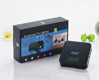 Wholesale Hot Selling MX Box Support Stystem Digital TV BOX for XBMC Youtube Android TV Box in Stock