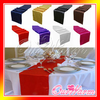 Wholesale Satin Table Runner Many Colors You Pick For Christmas Decor For Christmas Wedding Favor Romance Atmosphere New Elegant Edyge Hot Sale