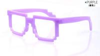 Wholesale Mosaic Sunglasses Frame For Children Black Blue Fuchsia Pink Purple Color Mix Order S2