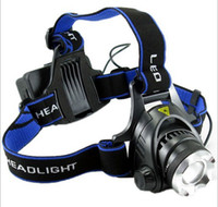 Wholesale T6 led headlight glare w bicycle Fishing Hunting Outdoor High Power Headlamp Cell battery charger Gift Box
