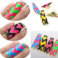 Wholesale Fashon Punk Vintage Muti Color Knuckle Full Finger Rings Stretch Long Alloy Ring JR07013