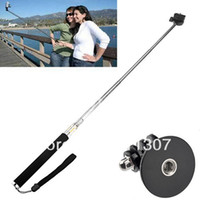 Wholesale Extendable Handheld Black Telescopic Monopod Holder Tripod for Gopro Hero