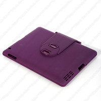 Wholesale A2 Swivel Rotating Stand Case Cover Bluetooth Keyboard For iPad Blue