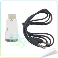 Wholesale Adapter to phones HDMI to VGA Audio adapter mini convert Colors in Stock