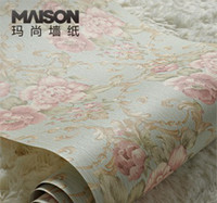 Wholesale Non woven American Fashion flower rustic wallpaper M Roll