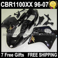 7gifts For HONDA CBR1100XX Blackbird 1996 2007 ALL Black CBR...