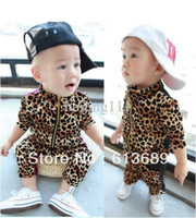 Wholesale colors autumn christmas kids boy girl outfit name brand baby clothing boys print leopard
