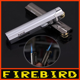 Free Shipping AOMAI Classic Cigarette Butane Jet Flame Metal Windproof Gas Lighter