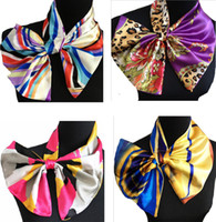 Square magic scarf - Women silk scarves magic satin scarf for lady small kerchief towel imitation silk scarf designs