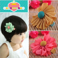Wholesale freeshipping kids Baby accessories children Girls jewelry baby headwear Hair clips flower JH6140