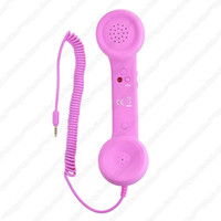 Wholesale A2 Retro Handset mm iPhone Blackberry Samsung Galaxy Cell Phone Smartphone Pink