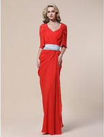 beau garrett - 2015 Chiffon Sheath Column V neck Floor length Evening Dress inspired by Beau Garrett