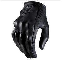 Wholesale Men s Motorcycle Racing ICON leather Glove Motorbike Cycling Biker Bicycle Sports Gloves